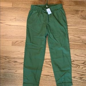 Green drawstring pants NWT